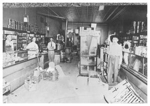 Primary view of object titled '[The Birch McClendon Food Store]'.