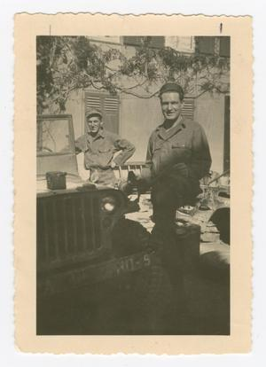 Primary view of object titled '[Two Soldiers in Lauchheim]'.