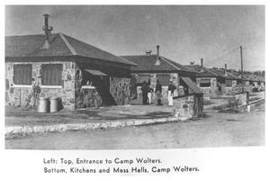 Primary view of object titled 'Kitchens & Mess Halls, Camp Wolters'.