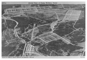 Primary view of object titled 'Aerial View of Camp Wolters'.