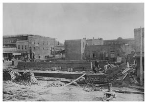 Primary view of object titled '[Construction of Oxford Hotel]'.