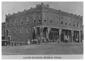 Primary view of object titled 'The Raines Building, Mineral Wells'.