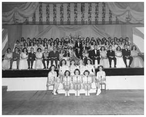 Primary view of object titled '[A High School Coronation, 1947]'.