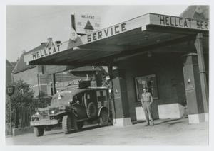 Soldier at Service Station, George Hatt, Jr. Collection
