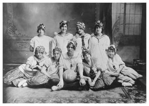 Primary view of object titled '[A Ladies' Athletic Team]'.