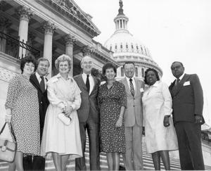 Primary view of object titled '[Pattie Powell and Others in Washington D.C.]'.