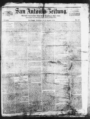 Primary view of San Antonio-Zeitung. (San Antonio, Tex.), Vol. 1, No. 20, Ed. 1 Saturday, November 12, 1853