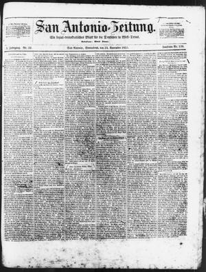 Primary view of San Antonio-Zeitung. (San Antonio, Tex.), Vol. 3, No. 22, Ed. 1 Saturday, November 24, 1855