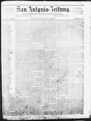Primary view of San Antonio-Zeitung. (San Antonio, Tex.), Vol. 2, No. 38, Ed. 1 Saturday, March 17, 1855