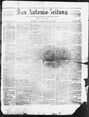 Primary view of San Antonio-Zeitung. (San Antonio, Tex.), Vol. 3, No. 39, Ed. 1 Saturday, March 29, 1856