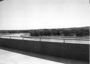 Primary view of object titled '[Patio Overlooking Lake]'.