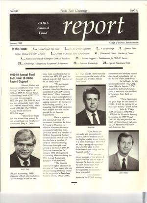 COBA Annual Fund Report, Summer 1992