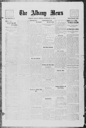 Primary view of object titled 'The Albany News (Albany, Tex.), Vol. 31, No. 35, Ed. 1 Friday, February 5, 1915'.