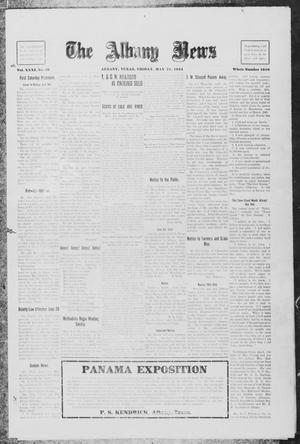 Primary view of object titled 'The Albany News (Albany, Tex.), Vol. 31, No. 50, Ed. 1 Friday, May 21, 1915'.
