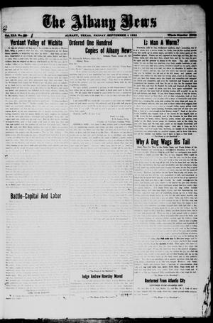Primary view of object titled 'The Albany News (Albany, Tex.), Vol. [42], No. [1], Ed. 1 Friday, September 4, 1925'.