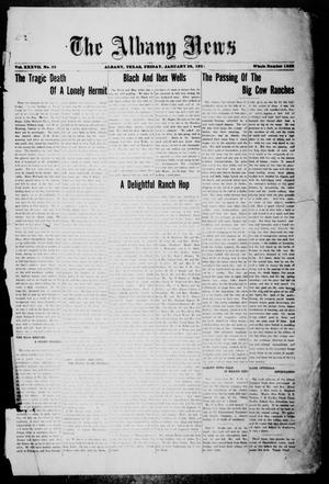 Primary view of object titled 'The Albany News (Albany, Tex.), Vol. 37, No. 32, Ed. 1 Friday, January 28, 1921'.