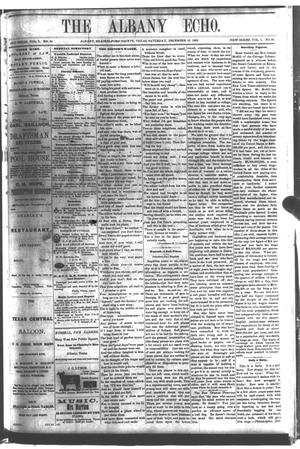 Primary view of object titled 'The Albany Echo. (Albany, Tex.), Vol. 1, No. 30, Ed. 1 Saturday, December 15, 1883'.