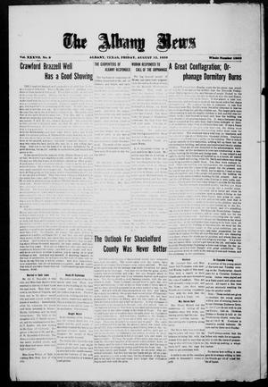 Primary view of object titled 'The Albany News (Albany, Tex.), Vol. 37, No. 9, Ed. 1 Friday, August 13, 1920'.