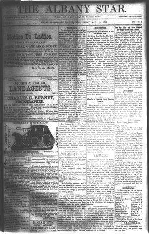 Primary view of object titled 'The Albany Star. (Albany, Tex.), Vol. 1, No. 20, Ed. 1 Friday, May 11, 1883'.