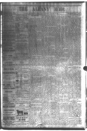 Primary view of object titled 'The Albany Echo. (Albany, Tex.), Vol. 1, No. 36, Ed. 1 Saturday, January 26, 1884'.