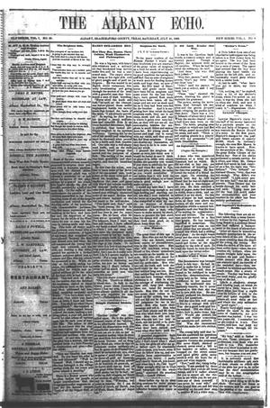 Primary view of object titled 'The Albany Echo. (Albany, Tex.), Vol. 1, No. 9, Ed. 1 Saturday, July 21, 1883'.