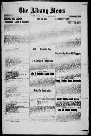 Primary view of object titled 'The Albany News (Albany, Tex.), Vol. 41, No. [34], Ed. 1 Friday, March 6, 1925'.