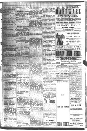 Primary view of object titled 'The Albany Echo. (Albany, Tex.), Vol. [1], No. [35], Ed. 1 Saturday, January 19, 1884'.