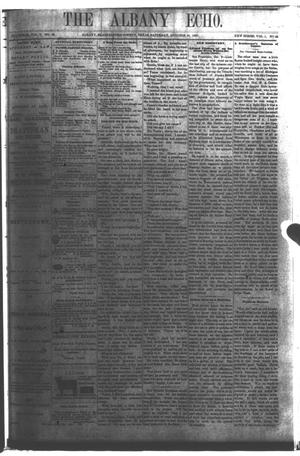 Primary view of object titled 'The Albany Echo. (Albany, Tex.), Vol. 1, No. 22, Ed. 1 Saturday, October 20, 1883'.