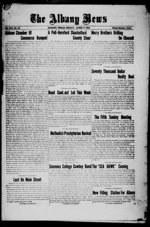 Primary view of object titled 'The Albany News (Albany, Tex.), Vol. 41, No. [37], Ed. 1 Friday, April 3, 1925'.