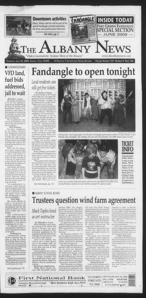 Primary view of object titled 'The Albany News (Albany, Tex.), Vol. 134, No. 4, Ed. 1 Thursday, June 18, 2009'.