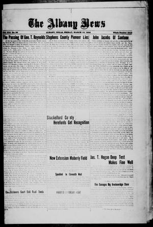 Primary view of object titled 'The Albany News (Albany, Tex.), Vol. 41, No. [35], Ed. 1 Friday, March 13, 1925'.