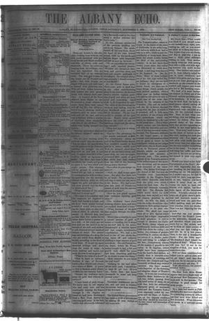 Primary view of object titled 'The Albany Echo. (Albany, Tex.), Vol. 1, No. 24, Ed. 1 Saturday, November 3, 1883'.