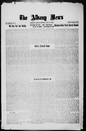 Primary view of object titled 'The Albany News (Albany, Tex.), Vol. 37, No. 4, Ed. 1 Friday, July 9, 1920'.