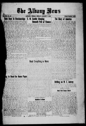Primary view of object titled 'The Albany News (Albany, Tex.), Vol. 41, No. [53], Ed. 1 Friday, August 7, 1925'.