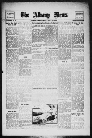 Primary view of object titled 'The Albany News (Albany, Tex.), Vol. 32, No. 6, Ed. 1 Friday, July 16, 1915'.