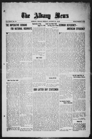 Primary view of object titled 'The Albany News (Albany, Tex.), Vol. 35, No. 12, Ed. 1 Friday, August 23, 1918'.