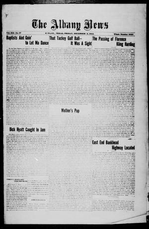 Primary view of object titled 'The Albany News (Albany, Tex.), Vol. 41, No. [22], Ed. 1 Friday, December 5, 1924'.