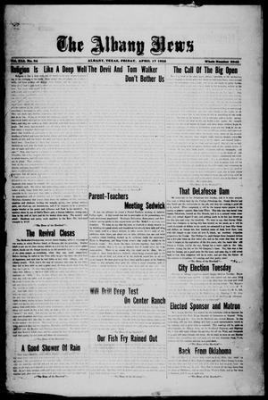 Primary view of object titled 'The Albany News (Albany, Tex.), Vol. 41, No. [39], Ed. 1 Friday, April 17, 1925'.