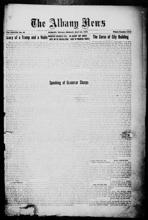 Primary view of object titled 'The Albany News (Albany, Tex.), Vol. 37, No. 48, Ed. 1 Friday, May 20, 1921'.