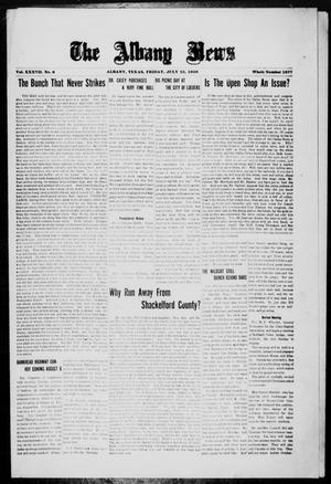 Primary view of object titled 'The Albany News (Albany, Tex.), Vol. 37, No. 6, Ed. 1 Friday, July 23, 1920'.