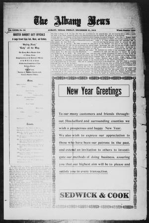 Primary view of object titled 'The Albany News (Albany, Tex.), Vol. 32, No. 30, Ed. 1 Friday, December 31, 1915'.