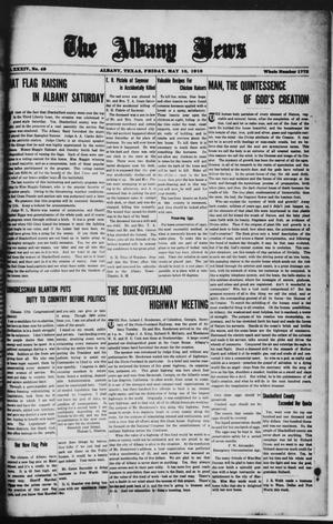 Primary view of object titled 'The Albany News (Albany, Tex.), Vol. 34, No. 49, Ed. 1 Friday, May 10, 1918'.