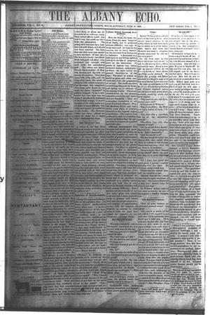 Primary view of object titled 'The Albany Echo. (Albany, Tex.), Vol. 1, No. 4, Ed. 1 Saturday, June 16, 1883'.