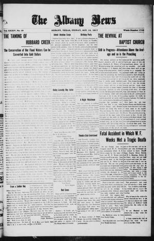 Primary view of object titled 'The Albany News (Albany, Tex.), Vol. 34, No. 19, Ed. 1 Friday, October 12, 1917'.