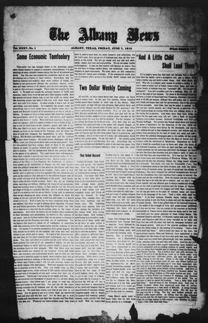 Primary view of object titled 'The Albany News (Albany, Tex.), Vol. 35, No. 1, Ed. 1 Friday, June 7, 1918'.