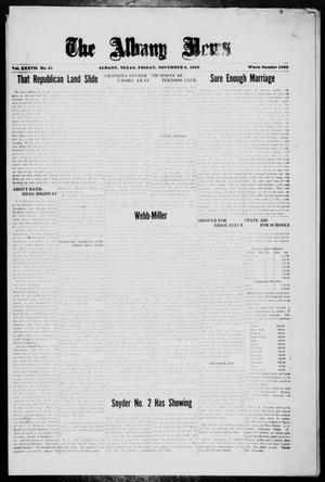Primary view of object titled 'The Albany News (Albany, Tex.), Vol. 37, No. 21, Ed. 1 Friday, November 5, 1920'.