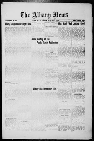 Primary view of object titled 'The Albany News (Albany, Tex.), Vol. 37, No. 29, Ed. 1 Friday, January 7, 1921'.