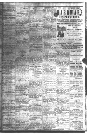 Primary view of object titled 'The Albany Echo. (Albany, Tex.), Vol. [1], No. [39], Ed. 1 Friday, February 15, 1884'.