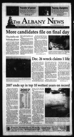 Primary view of object titled 'The Albany News (Albany, Tex.), Vol. 132, No. 32, Ed. 1 Thursday, January 3, 2008'.