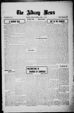 Primary view of object titled 'The Albany News (Albany, Tex.), Vol. 35, No. 35, Ed. 1 Friday, February 7, 1919'.